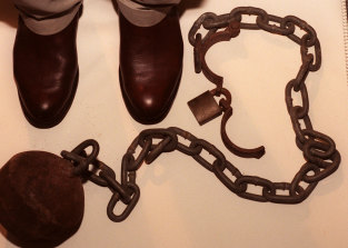 Ball and chain at Hyde Park Barracks - a penal colony once more?