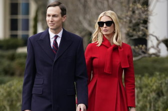 A White House spokesperson denied that Jared Kushner and Ivanka Trump, pictured, restricted agents from their home.