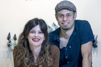 Corinne and Jon Beinart, who graduated from an online gallery to their space in Brunswick.