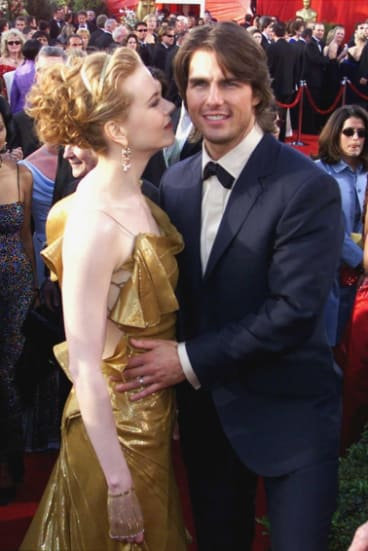 Happier times: Nicole Kidman with former husband Tom Cruise.