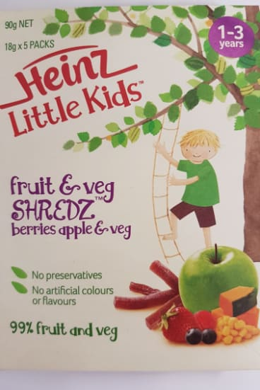The ACCC says Heinz's claims about Little Kids Shredz snacks are false and misleading.