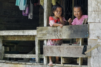 You're building the capital here? Children of Pemaluan village could be displaced by Indonesia's new capital city on the island of Borneo.