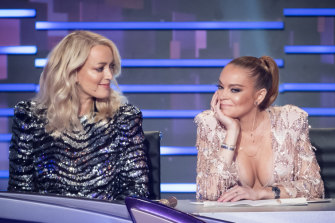 "Jackie ""O"" Henderson and Lindsay Lohan on the judging panel."