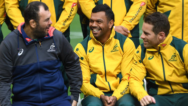 Connection: Michael Cheika says he has unwavering belief in the Wallabies playing group despite a tough season.
