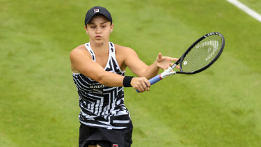 Ashleigh Barty is feeling comfortable back on grass in England.