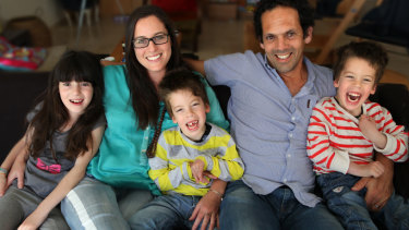 Ondine Sherman with her husband Dror and their children, from left, Jasmine, Lev and Dov 2013.