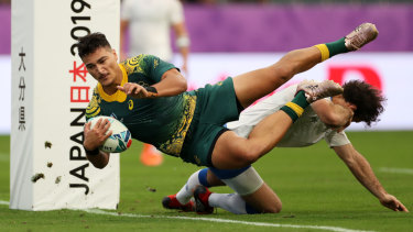 Petaia's try was a great moment for him and his teammates.