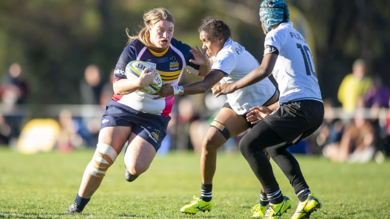Brumbies No. 8 Tayla Stanford looked dangerous every time she touched the ball.