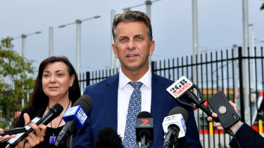 Transport Minister Andrew Constance says the final cost of building the line will not be known until passenger services begin.