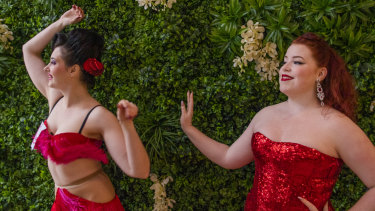 Sydney Fringe Festival performers Bella Louche with Kitty Allure.