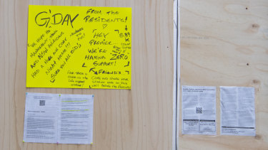 """""""Hey Premier, we're having zero support,"""" residents wrote in a message at the unit complex on Tuesday."""