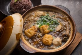 Warm up with fortifying bak kut teh at Aunty Franklee