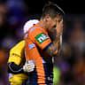 Knights halfback Mitchell Pearce hopes to be back before NRL finals