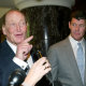 Kerry Packer and son James at a Publishing & Broadcasting Limited AGM in October 2004.