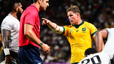Michael Hooper put in another captain's shift against Fiji.
