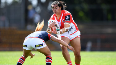 Maitua Feterika will turn out for the Dragons in her second NRLW grand final on Sunday after lifting the trophy with Brisbane last year.