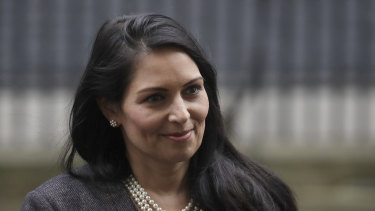 British Home Secretary Priti Patel.