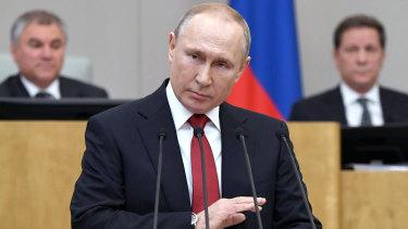 """We have had enough revolutions"": Russian President Vladimir Putin."