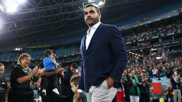 Greg Inglis is getting the help he needs, says his friend Justin Hodges.