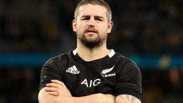 Bad night at the office: Dane Coles absorbs defeat.