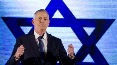 Blue and White party leader Benny Gantz.