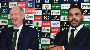 Looking for the last laugh: Wayne Bennett was all smiles at the Greg Inglis retirement press conference but will be all business as he tries to beat Brisbane.