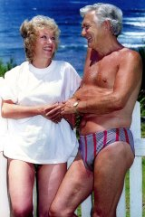 The famous photo, taken on New Year's Eve in 1994, of Bob Hawke and Blanche d'Alpuget.