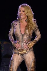 Pop singer Britney Spears performs in Mexico City in 2002.