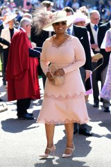 Oprah Winfrey attends the wedding of Meghan Markle and Prince Harry in 2018.