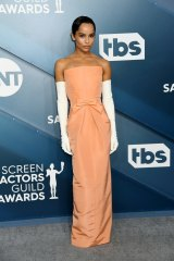 Zoe Kravitz arrives at the Screen Actors Guild Awards in January, 2020.
