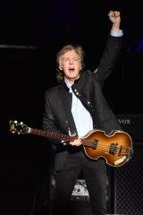 Paul McCartney on his 2017 tour.