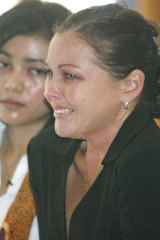 Schapelle Corby weeps after hearing the 20 year sentence.