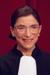 US Supreme Court Justice Ruth Bader Ginsburg in 1993.