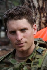 Andrew Hastie in his army days.