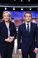 The 2017 French presidential contest between Marine Le Pen (left) and Emmanuel Macron pitted nativist sentiments against globalist ones.