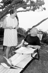 Harold Holt and Zara Holt at Portsea in 1966.