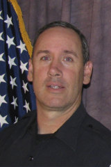 Killed: Officer Eric Talley was first on the scene.