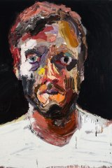 Ben Quilty, self portrait after Afghanistan, 2012.