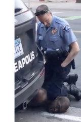 Video footage showed police officer Derek Chauvin kneeling on George Floyd.