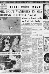 The front page of The Age, December 18, 1967.