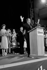 Malcolm Fraser launches the Liberal Party election campaign in 1975