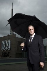 Mark Scott on the roof top of the ABC building in Ultimo Sydney.
