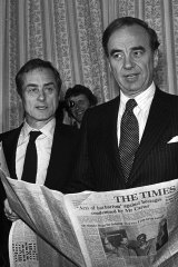 Harold Evans, a hugely influential editor of the London Times newspaper, was famous for exposing corruption and scandal.