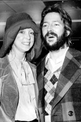 Pattie Boyd and Eric Clapton in 1974.