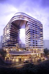 An artist's impression of the Infinity development.