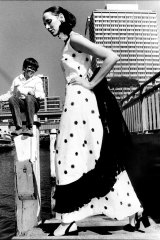 Maggi Eckardt modelling in Sydney in 1972.