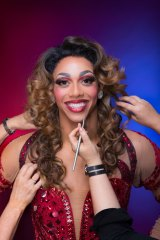 Melham's fiance Callum Francis was brought into Australia to play drag queen Lola in Kinky Boots.