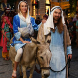 Mary and Joseph had to make their own way this year will all animals pulled from the parade.