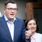Premier Daniel Andrews and Minister for Energy, Environment and Climate Change Lily D'Ambrosio