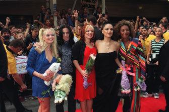 The Spice Girls in Sydney in 1998.